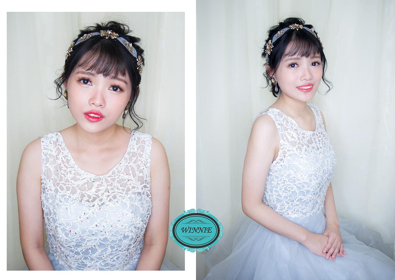 新娘低盤髮造型