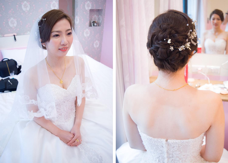 婚宴新娘造型│溫柔又氣質的白紗造型
