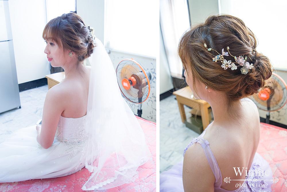 台南新娘婚宴│招牌花飾品編髮訂結造型