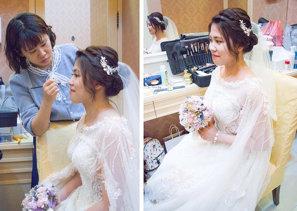 美式戶外證婚的浪漫花飾品新娘