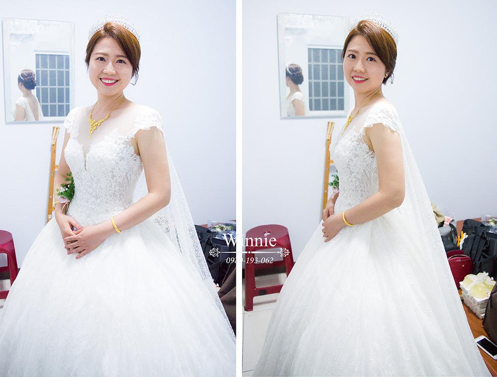 輕透底妝、白紗皇冠造型、氣質花飾、時尚名媛