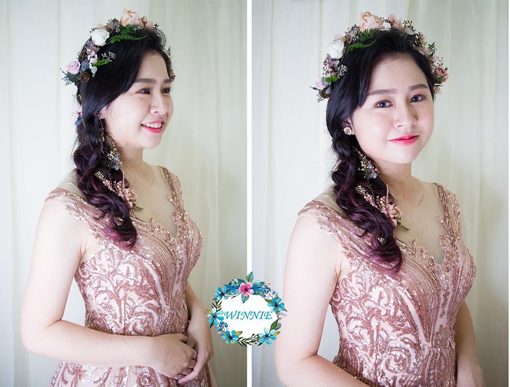 清透妝容和花花仙子的晚禮服浪漫風格