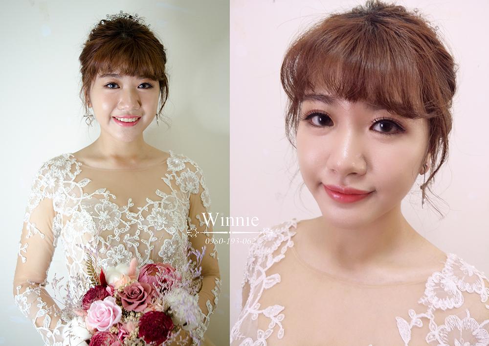 甜美高雅的小公主新娘造型