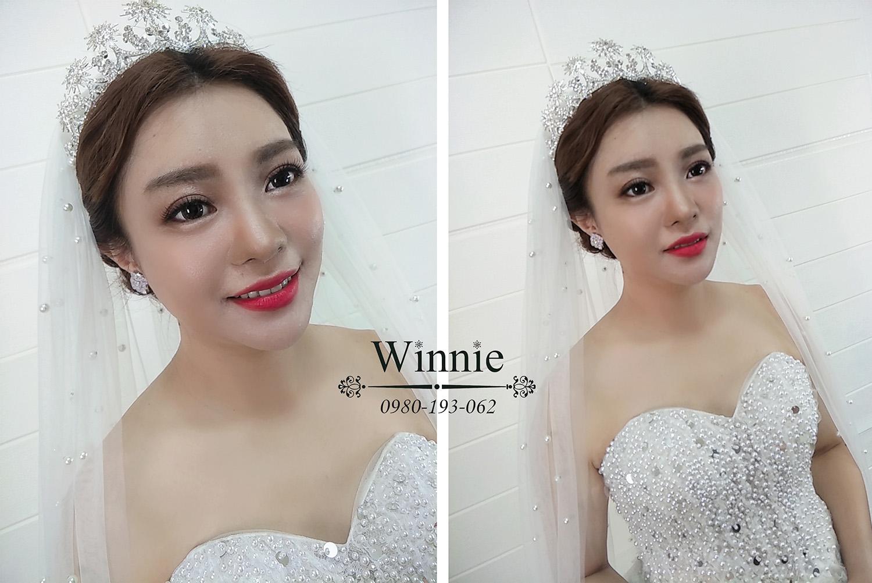 大氣時尚的白紗新娘