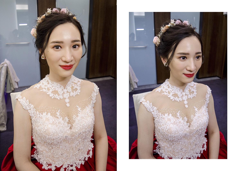 眼型調整、光澤妝容、皇冠跳舞、白紗花飾品、流蘇飾品晚禮服